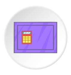 Closed safe icon cartoon style vector