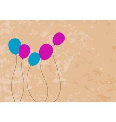 color baloons on the brown background vector image