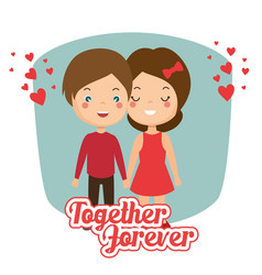couple in love together forever icon vector image