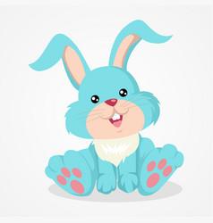 Cute cartoon of an easter bunny vector