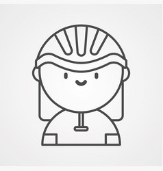 cyclist icon sign symbol vector image