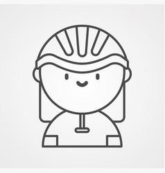 cyclist icon sign symbol vector image