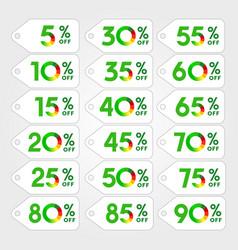 discount green vector image