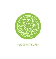 Emblems for flowers shop vector image