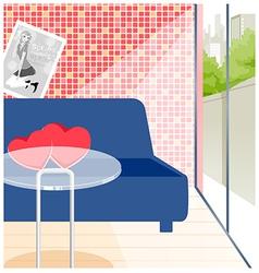 Empty cafe Interior vector image