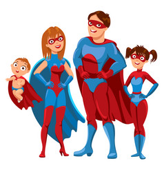 Family of superheroes vector