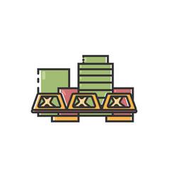 Flat color grand rapids icon vector