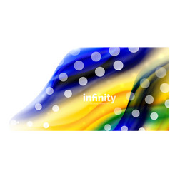 flowing liqiud colors isolated on white vector image