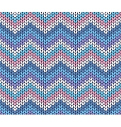 Fresh Ethnic Winter Knitted Abstract Zigzag vector image