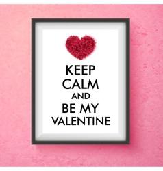 Fun Valentines Day card design vector image