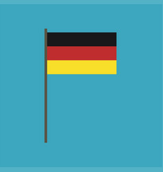 germany flag icon in flat design vector image