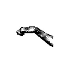 Gesture right hand knocking 8 bit minimalistic vector