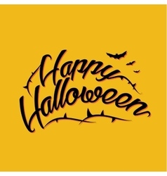 Halloween lettering greeting card eps 10 vector