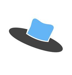 Hat v icon vector