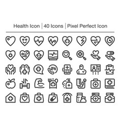 Health line icon vector