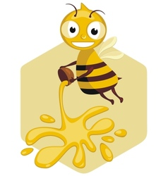 honey bee vector image