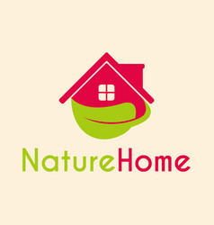 house nature logo template support icon modern vector image