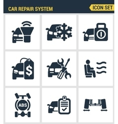 Icons set premium quality of car repair system vector