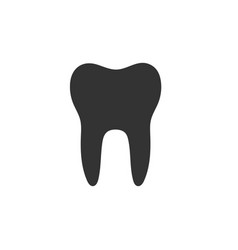 Isolated tooth flat icon on a white background vector