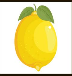 lemon icon isolated on white vector image