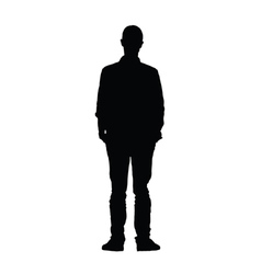 man black silhouette vector image