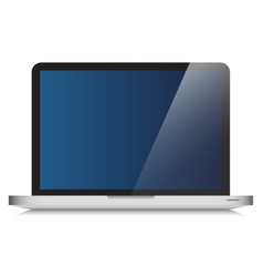 Modern Laptop Computer Glass Screen vector image