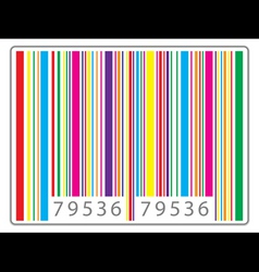 Multi colored barcode vector
