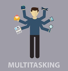 Multitasking Human resource and self employment vector