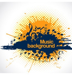 Musical background blot vector
