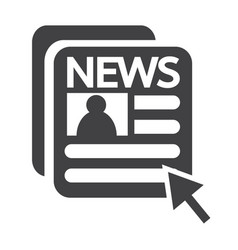 news and newspaper icon vector image