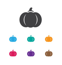 of planting symbol on pumpkin vector image