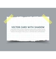 Paper card with scotch tape pieces and shadow vector