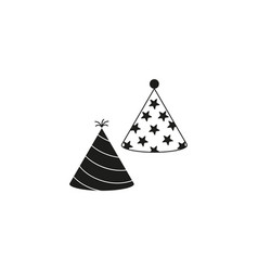 party hats icons black vector image
