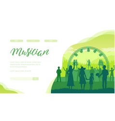 performance female musical band before fans vector image
