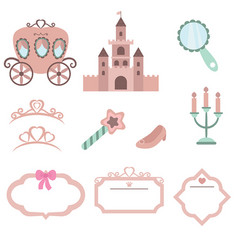 princess design elements princess design elements vector image vector image