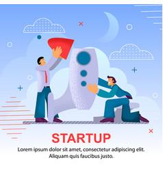 Promising creative startup vector