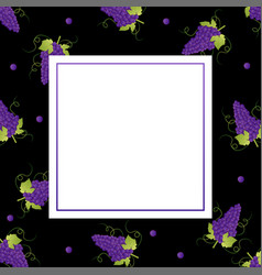 Pueple grape banner on black background vector