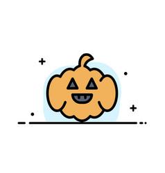 Pumpkin american usa business flat line filled vector