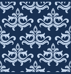 Retro light blue seamless pattern vector image