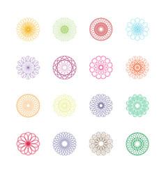 round symbols set spirographs vector image