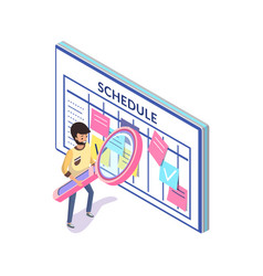 schedule or time management organizer or calendar vector image