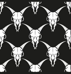 seamless pattern of animal skulls vector image