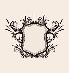 Shield decorative ornament vector
