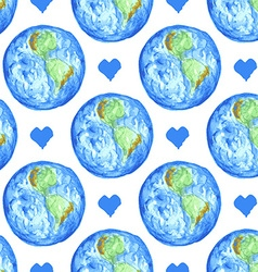 Sketch Earth and heart in vintage style vector image