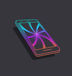smartphone icons of modern technology the vector image