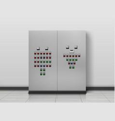 Substation room electrician equipment generator vector