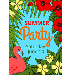 Summer party vector