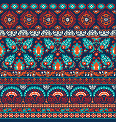 Suzani style antique rug motifs patchwork vector