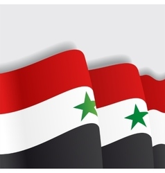 Syrian waving Flag vector