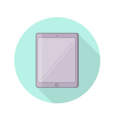 tablet pc with blank screen vector image
